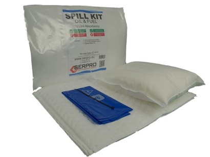 10 Litre Oil and Fuel Compact Spill Kit