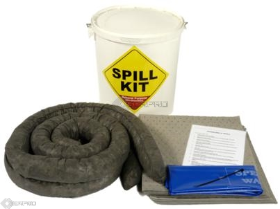35 Litre General Purpose Spill Kit in a Plastic Drum