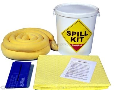 35 Litre Chemical Spill Kit in a Plastic Drum