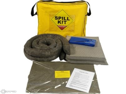50 Litre General Purpose Spill Kit with Drain Plug in a Shoulder Bag