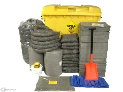 800 Litre General Purpose Spill Kit in Wheeled Trunker