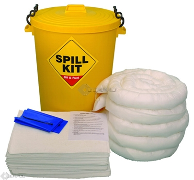 100 Litre Oil and Fuel Only Spill Kit in Plastic Drum